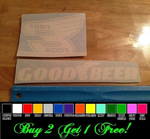 2 stickers Good Beer Dale 3 Wings vinyl decal car truck window bumper nascar