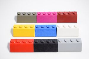 LEGO 20 RED 2x4 ROOF 45° SLOPES Bricks 3037 used and cleaned