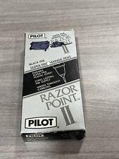 Vintage New Pack Of 12 Pilot Razor Point Ii Maker Pens H9