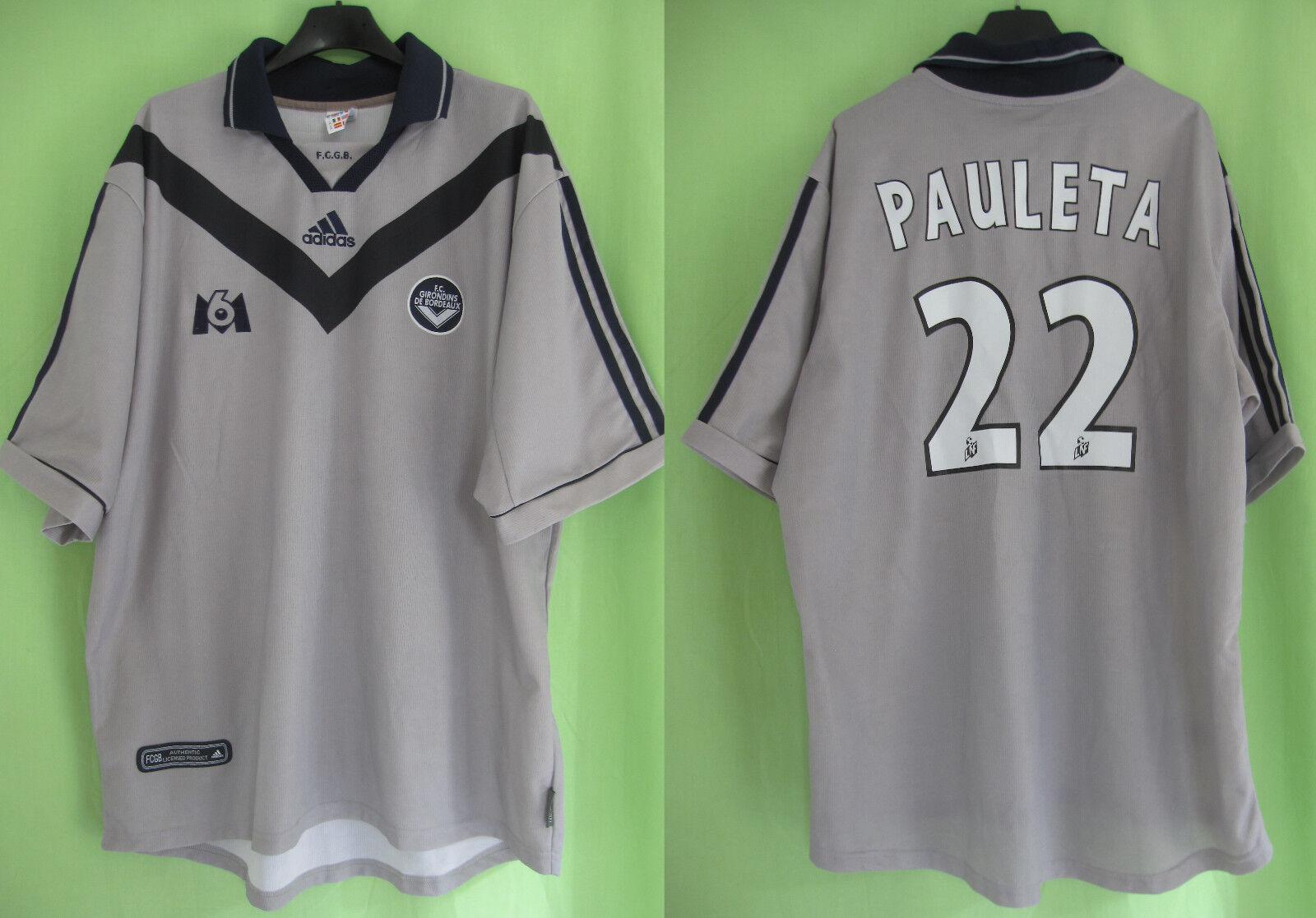 Maillot Girondins de Bordeaux Pauleta  22 Adidas Vintage Jersey football  XL