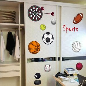 Details About Cartoon Sport Various Wall Stickers Children Room Decor Art Decals