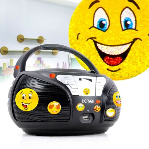 Kinder Zimmer Musik Anlage Stereo Radio Boxen USB AUX CD Player Big Light
