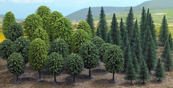 Arbres Trees 50 Pieces AssortiSiet H0 Scale 1 87 Diorama Model BUSCH