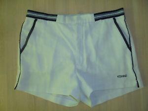 vintage-80s-CRANE-Tennis-Shorts-oldschool-80er-jahre-Sporthose-weiss-D50-M