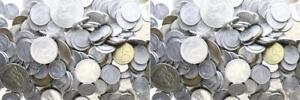 Kiloware DDR - 3 Kilo DDR Münzen 1 Pfennig - 20 Mark Erhaltung verschieden