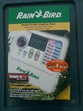 Rain Bird Indoor Lawn Garden Water Irrigation Sprinkler 4 Valve Timer Controller