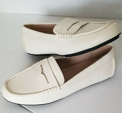 Sam Edelman Circus Filly White Leather Penny Driving ...