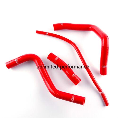 For SUZUKI GSXR1000 GSXR 1000 01-04 Silicone Radiator Hoses Coolant Pipe Kit Red