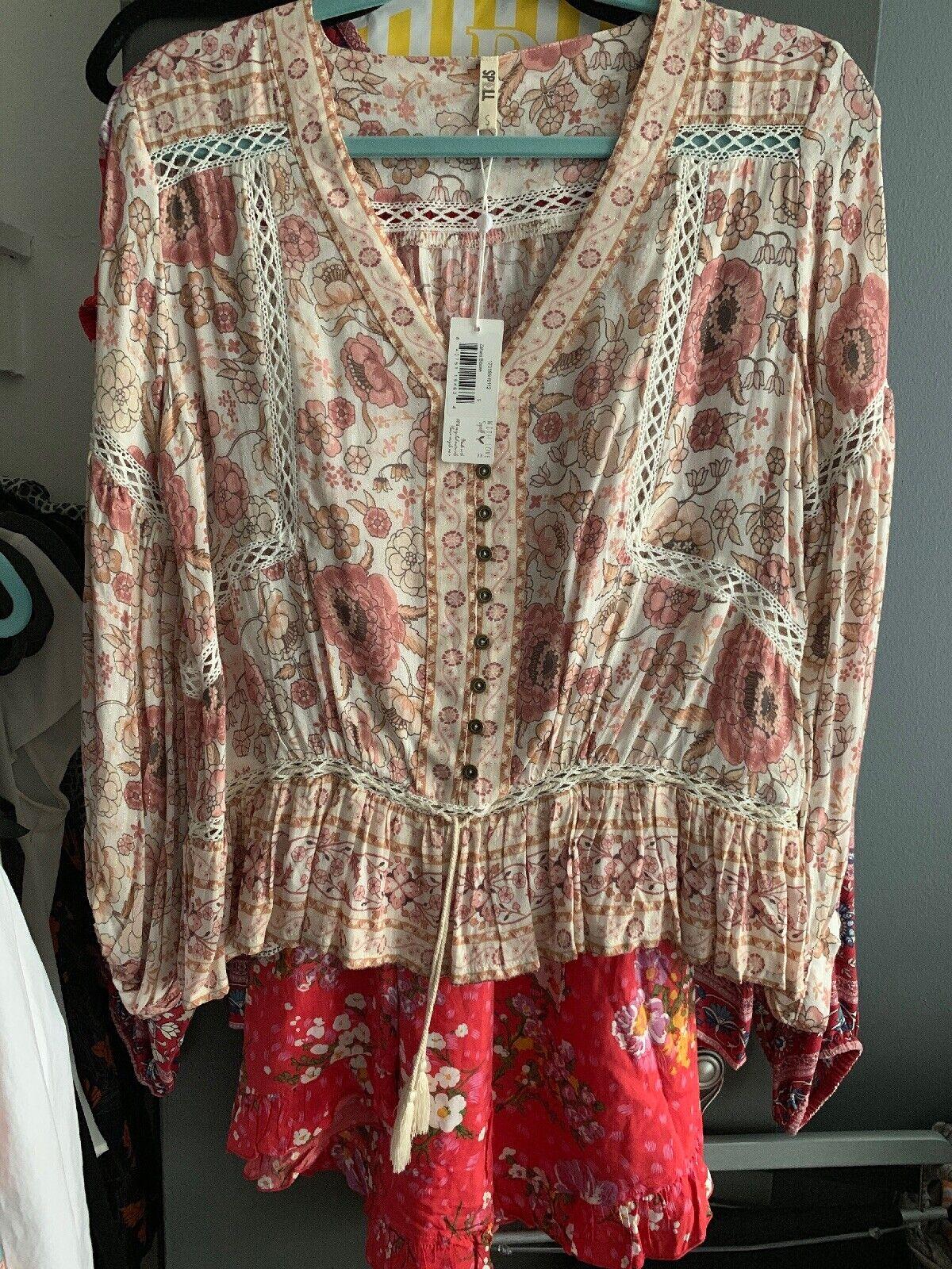 Spell & The Gypsy Zahara Blouse NWT Größe S