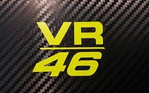 2x-Valentino-Rossi-VR-46-Aufkleber-in-Neon-Gelb-7-x-5-cm-NEU