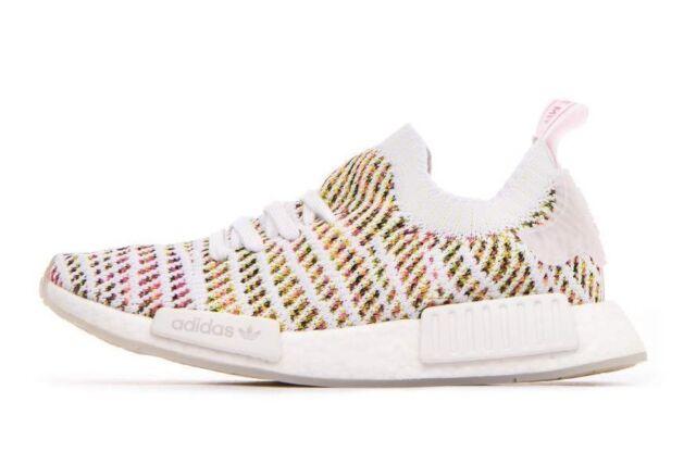 e394b8819d27 Adidas Originals Women s NMD R1 STLT PK Shoes White Solar Yellow B43838 c