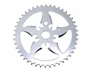 Steel-Chainring-Sword-44t-1-2-X-1-8-Chrome-Cruiser-Chopper-BMX-Kid-Bikes-137416