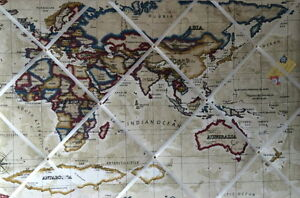 Prestigious stone world map atlas crafted fabric notice pin memo image is loading prestigious stone world map atlas crafted fabric notice gumiabroncs Images