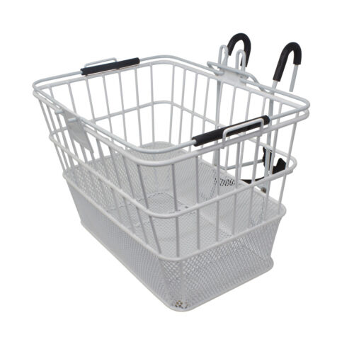 FeNIX Bike Bicycle  Quick RELEASE SQUARE BASKET CARRY-A-ROUND White