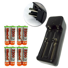 8 AA Ultracell 3200mAh NiMH 1.2V Volt Rechargeable Battery 1206W US Charger Org