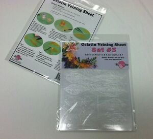 Cake Decorating Gelatin : Gelatin Art Veining Sheets Set 3 - Cake Decorating