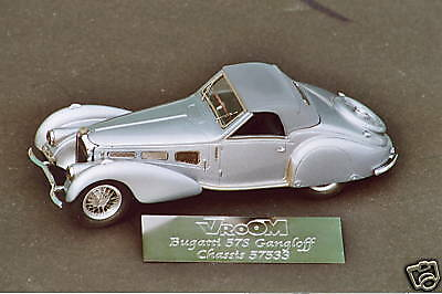 BUGATTI  57 S  DROPHEAD  GANGLOFF  VROOM   KIT  A  MONTER  1 43  UNPAINTED
