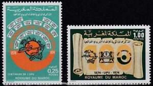 UPU-100-Jaar-Marokko-postfris-1974-MNH-767-768-upu095