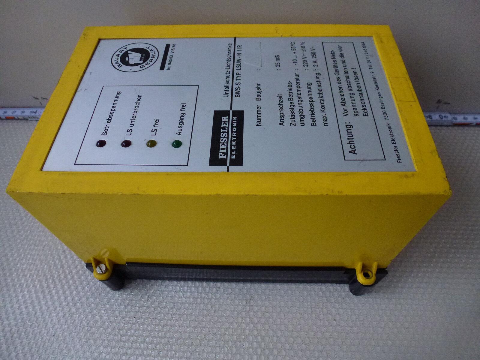 Fiessler BWS-S Type Lsuw-N 1 Ir Unfallschutz-Lichtschranke Ansprechzeit 25 25 25 Ms a895b1