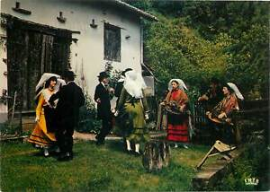 Postcard-Ethnic-rural-traditions-costumes-folcklore-French-Limousine