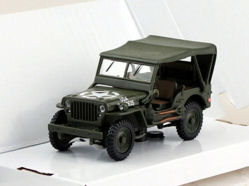 Jeep Willys geschlossen Militär 1:43 Cararama  Modellauto