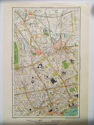 Map Soho London.London Mayfair Soho Bloomsbury Camden Town Old Street Map Dated 1933 Ebay