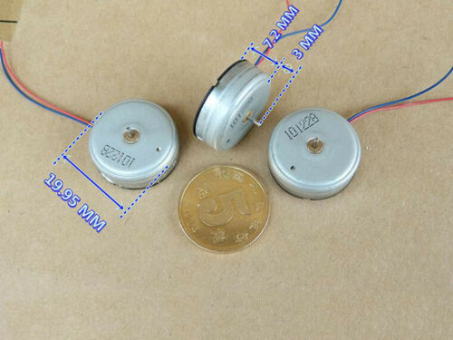 DC 3V 18000RPM High Speed Strong Magnetic Ultra-thin 20mm Micro Round Motor Toy