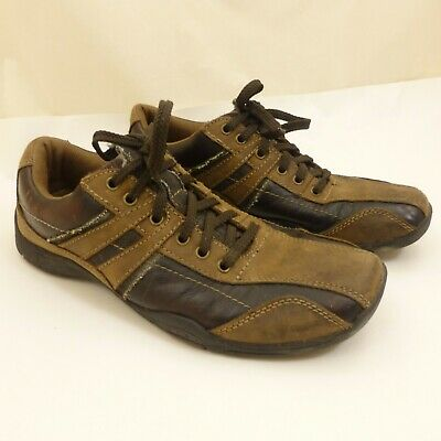 skechers f50 brown leather lace up casual men's shoes