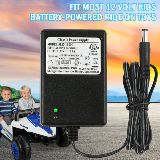 12v Battery Charger for Kids Ride on Car Wrangler SUV Kid Trax Dynacraft 6 FT for sale online