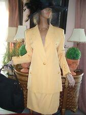 LUXUS COUTURE ESCADA Blazer gelb gold 38/40 NP1480,-EUR Golf Hochzeit Standesamt