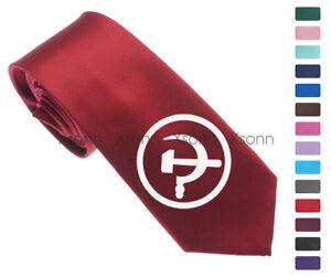 Soviet-Union-Russia-CCCP-Logo-Men-Woven-Skinny-2-5-034-Party-Tie-Necktie-K41