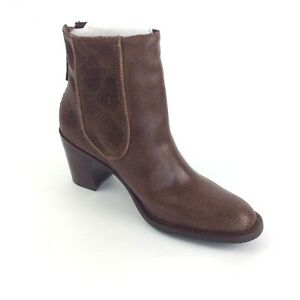 7f1c996b6398 Coconuts By MATISSE Brown Leather Ankle Boots Women 8M 9M Snakeskin ...