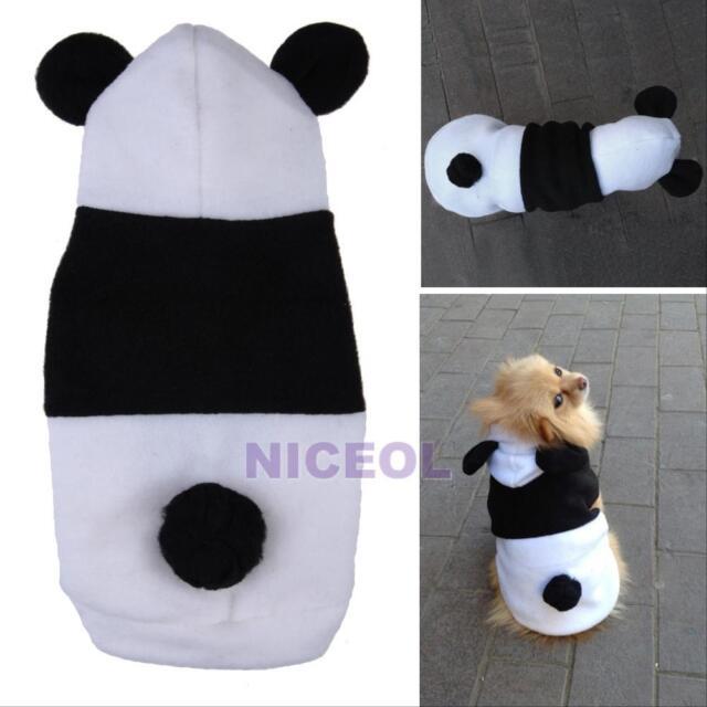 Pet Cute Fleece Panda Clothes Warm Coat Costume Outwear Apparel for Dog Cat