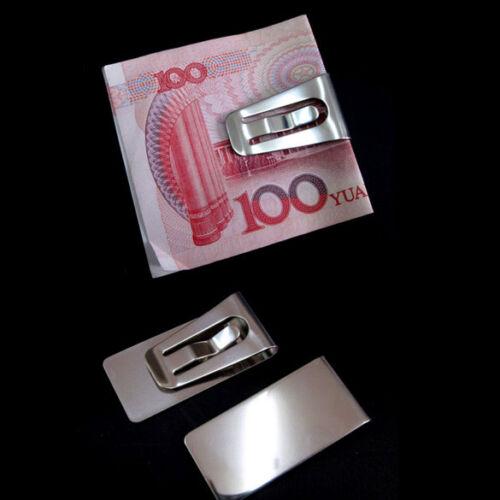 UN3F Neu Edelstahl Geldschein Kreditkarten Visitenkarten Clip Klammer