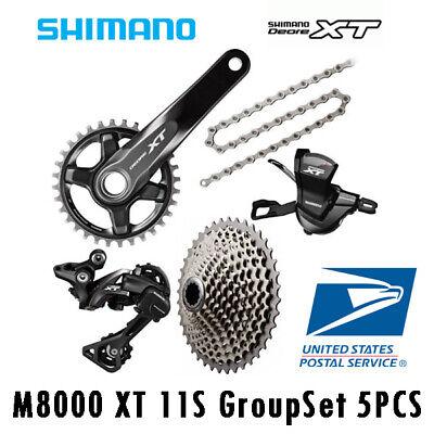 OE Shimano XT M8000 11 Speed Drivetrain Groupset 40T 42T 46T Cassette
