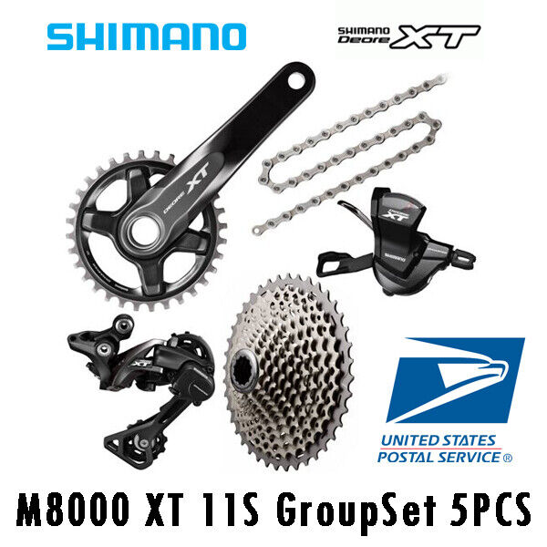 SHIMANO ALTUS M370 MTB Groupset Group Set 3x9 27 Speed 6PCS FC-M371 Crankset