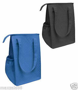 """14"""" Thermo Insulated Tote Bag Lunch Containers Bag Shopping Food Drinks Storage"""