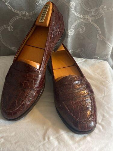 RARE! $1,400 Bragano Cole Haan Rust Crocodile Alli