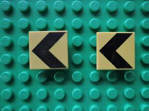Lego 2 X Bouclier Jaune Carre Clip 30258pb001 Warnbalken 1353 6427 6600 4990-afficher Le Titre D'origine
