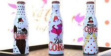 """Serie 3 Bottiglie Alluminio Coca Cola """"Marc Jacobs"""" 250ml anno 2013 LEGGI"""