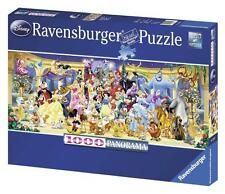 RAVENSBURGER DISNEY PANORAMA JIGSAW PUZZLE GROUP PHOTO 1000 PCS ALL #15109