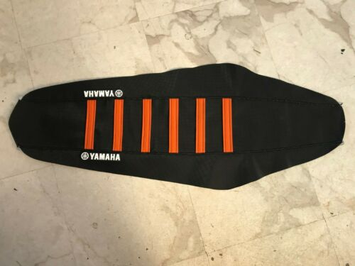 New Black /& Orange YAMAHA Ribbed Seat cover RAPTOR 660 2001-05