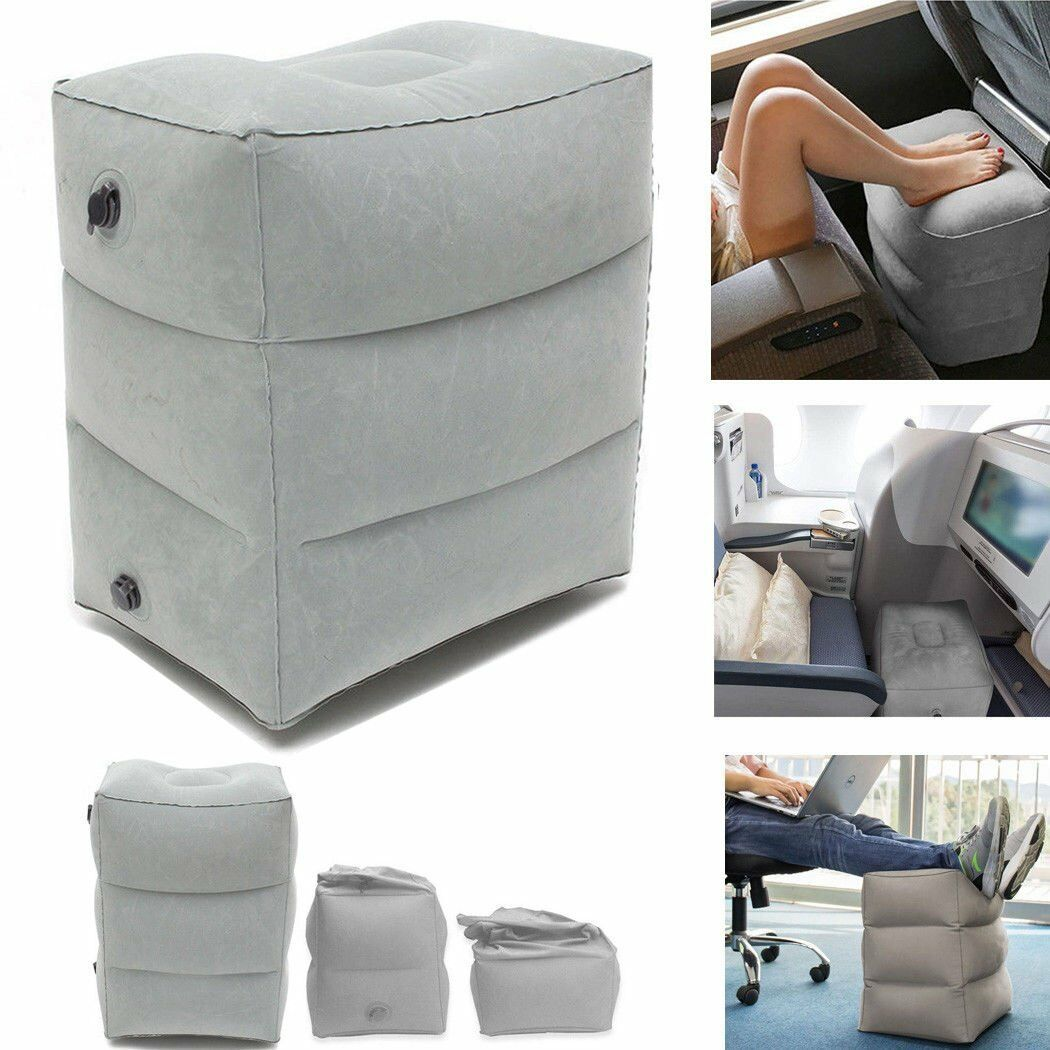Portable Airplane Train Car Travel Inflatable Foot Rest Footrest Pillow Kids Bed