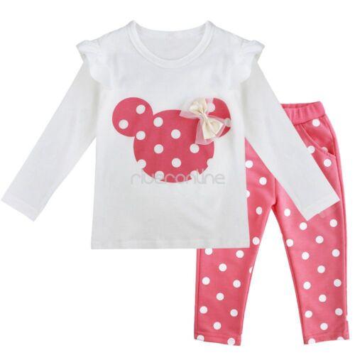 Hosen Pants Bekleidungsset Outfits Baby Mädchen Kleidung Set Langarm Shirt Top