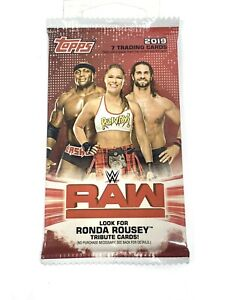2019 Topps WWE RAW Wrestling EXCLUSIVE Factory Sealed Blaster Pack
