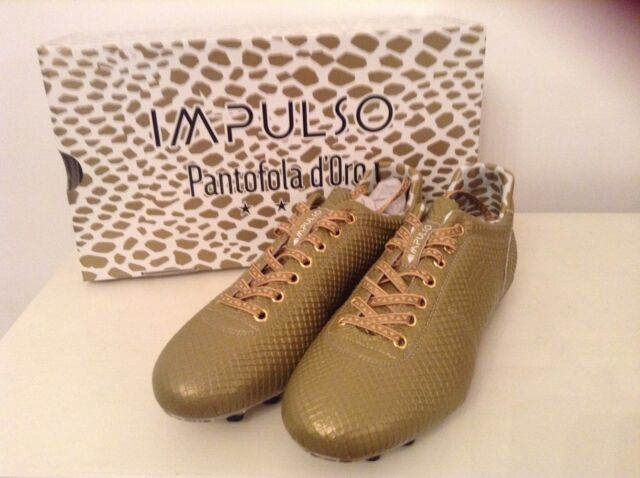 Impulso Pantofola d'Oro - Impulso Pitone Gold New HG Size 39 UK 6.5 Brand New