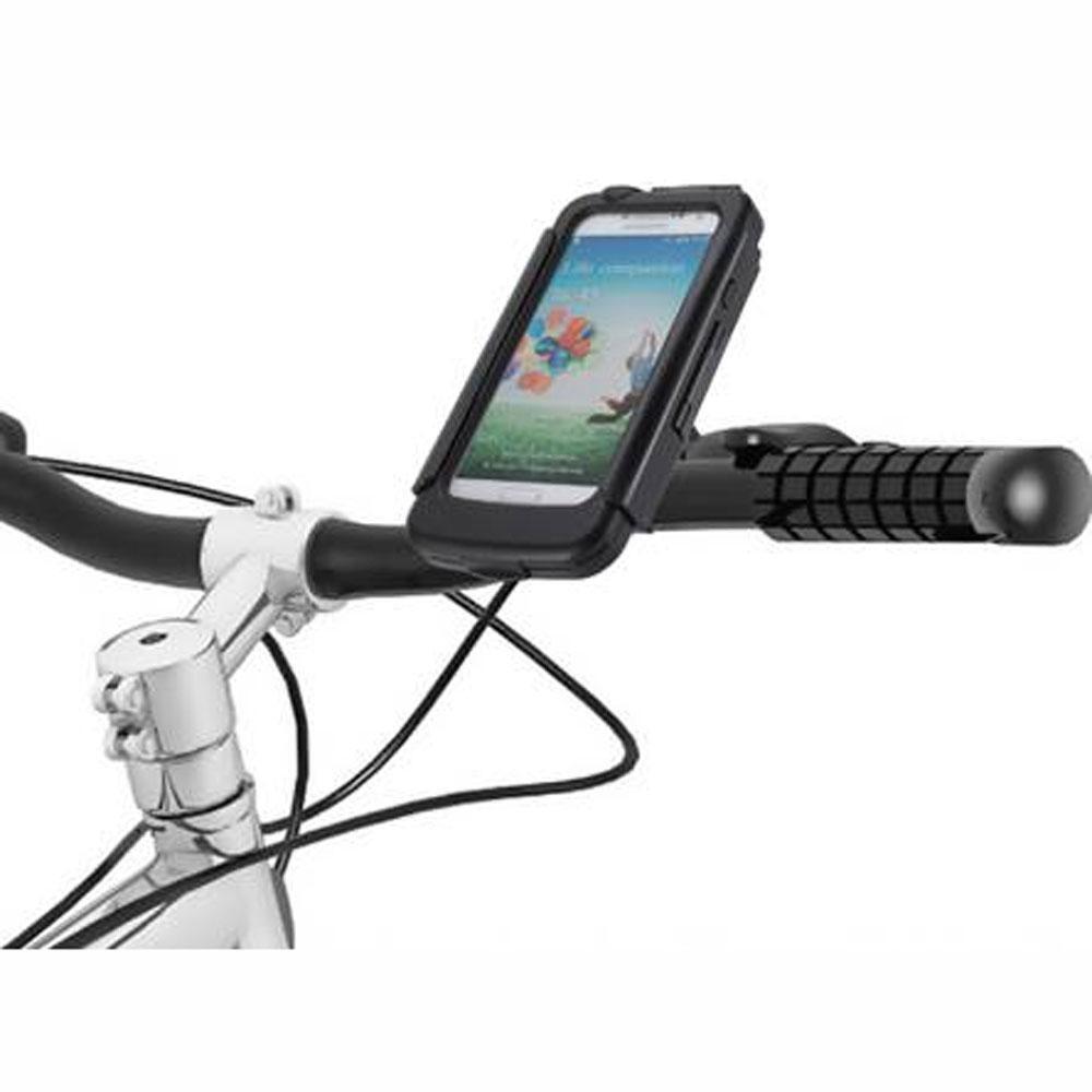 BikeConsole Waterproof Bike Handlebar Cycle Mount Samsung Galaxy S4 + battery