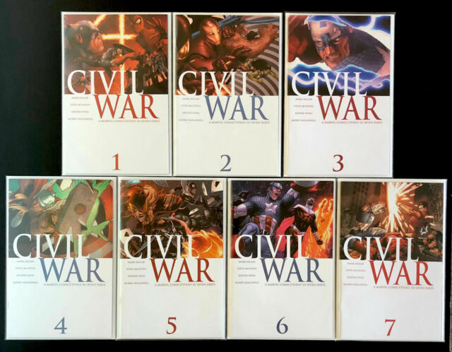 Civil War 1-7 - 1st Print Complete Series | VF-NM | 2006 Marvel Comics