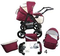Pram, Stroller, Seat All In A Single Structure Made In Eu 2in1