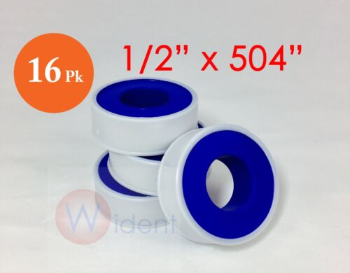 "16 Rolls Teflon Pipe Thread Tape 1//2/"" X 504/"" PTFE"